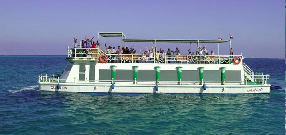 Плавание на акваскопе катамаране в Хургаде