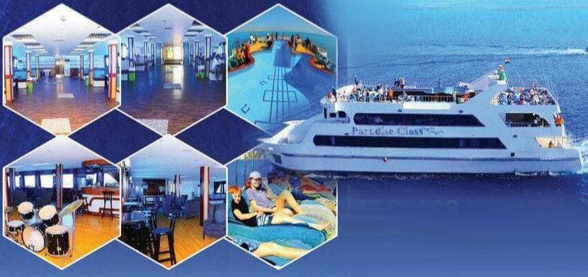 Катамаран Paradise class со стеклянным дном и бассейном на крыше в Хургаде